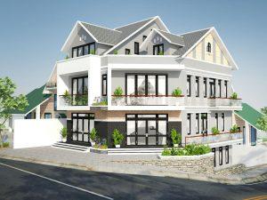 Read more about the article Thiết kế nhà 2 tầng và áp mái Yersin Đà Lạt